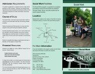Bachelor's of Social Work Social Work - Ohio University-Chillicothe
