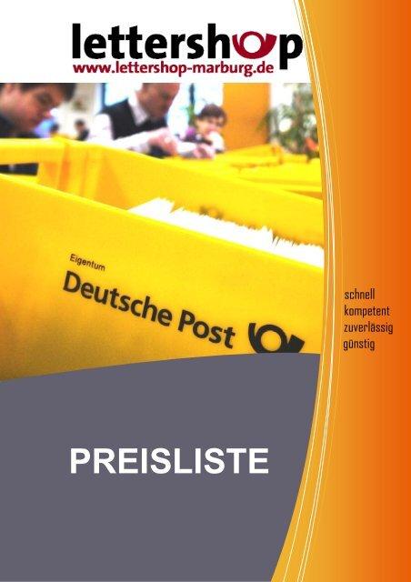 Preisliste Lettershop | 750 kB Inhalt
