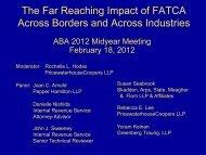 The Far Reaching Impact of FATCA Across Borders and Across ...