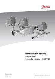 Elektroniczne zawory rozprężne, typu AKV 10, AKV 15 i AKV 20