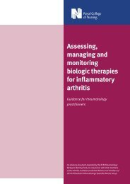 Assessing, managing and monitoring biologic therapies for ...
