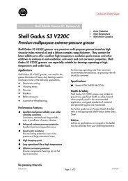 Shell Gadus S3 V220C - Alterijus | Marine lubricating oils