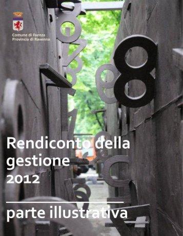 consuntivo 2012 - parte illustrativa - Comune di Faenza
