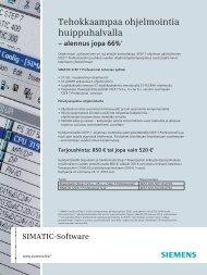 STEP 7 Professional huippuedullisesti - Siemens
