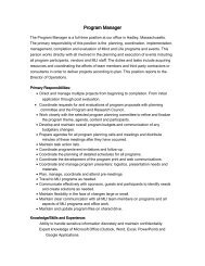 Program Manager - Mind & Life Institute