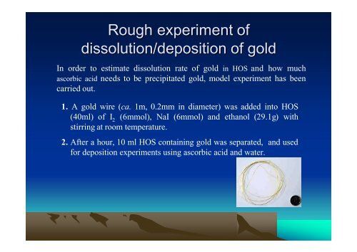 A trial of extracting gold from stream sediment and High Au/Ag ore ...
