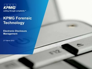 KPMG Forensic Technology - Isaca
