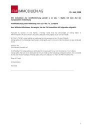 Voting Rights Notices of June 25, 2008 - IFM Immobilien AG