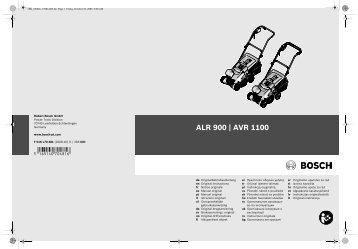 ALR 900 | AVR 1100 - Bosch Elektrowerkzeuge für Heimwerker