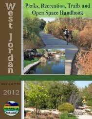 Parks, Recreation, Trails and Open Space Handbook - West Jordan