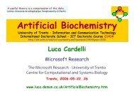 Artificial Biochemistry 00 - Course - Luca Cardelli