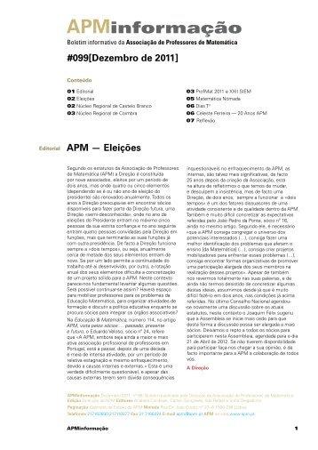 APMinformação - Associação de Professores de Matemática