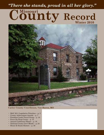 Missouri County Record Winter 2010 (PDF) - Missouri Association of ...