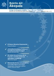 boletin del abogado 2º edicion - abril 2010 - Colegio de Abogados ...