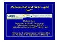 """""""Partnerschaft und Sucht – geht das?"""" - Fachstelle für ..."""