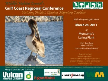 Download the conference flyer. - Wildlife Habitat Council