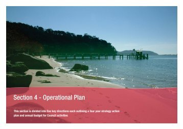 Section 4 - Operational Plan - Pittwater Council