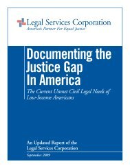 Documenting the Justice Gap in America - Legal Services Corporation
