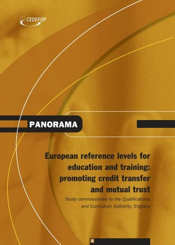 European reference levels for education and ... - Cedefop - Europa