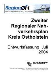 Zweiter Regionaler Nah- verkehrsplan Kreis Ostholstein