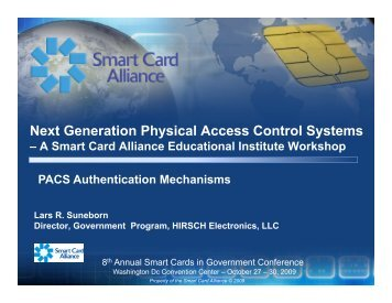 Next Generation Physical Access Control Systems - Smart Card ...