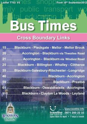 Cross Boundary Links - Blackburn with Darwen Borough Council