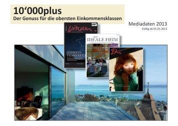 10'000plus Mediadaten 2013 - Vinum