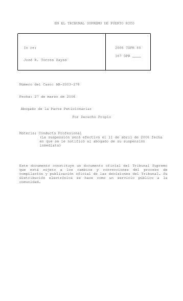 2006 TSPR 60 - Rama Judicial de Puerto Rico