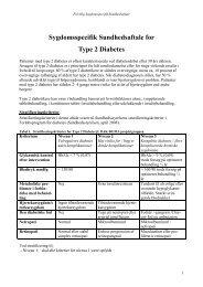 Type 2 Diabetes - Kronikerenheden