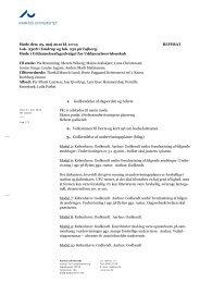 AARHUS UNIVERSITET 1. Godkendelse af dagsorden og referat 2 ...