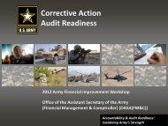 Corrective Action Audit Readiness - ASA(FM&C)