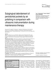 Subgingival debridement of periodontal pockets by air polishing in ...