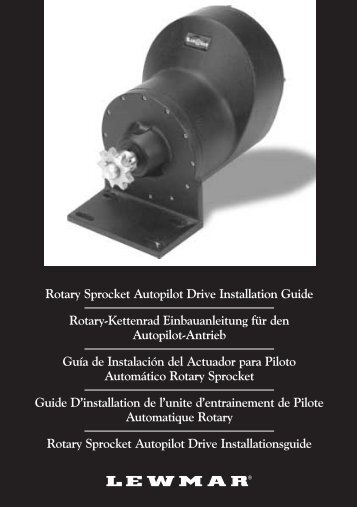 Rotary Sprocket Autopilot Drive Installation Guide Rotary ... - Lewmar