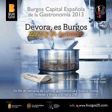 Devora, es Burgos - Burgos Capital Española de la Gastronomía 2013