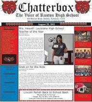 August 2011 Chatterbox - Ruston High School - Lincoln Parish ...
