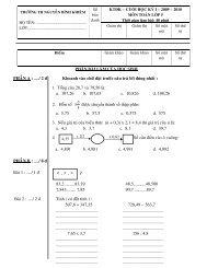 Đề kiểm tra cuối kỳ 1 lớp năm - Nguyễn Bỉnh Khiêm