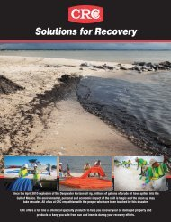 Oil Spill - Solutions for Recovery - CRC Industries