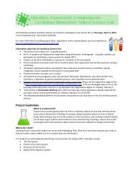 Project Guidelines - Cowlishaw Elementary School