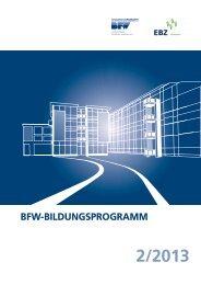 2/2013 BFW-Bildungsprogramm - BFW Landesverband Nordrhein ...