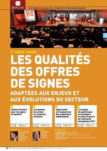 Les besoins du secteur en constante évolution - Agence Qualité ...