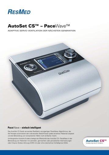 ResMed AutoSet CS™ - PaceWave - TNI medical AG