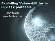 Exploiting Vulnerabilities in 802.11x protocols