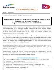 Travaux de modernisation sur la ligne Paris Orléans Limoges ... - RFF