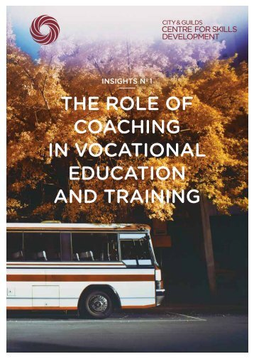 the role of coachIng In vocatIonal educatIon and traInIng