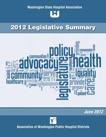 2012 Legislative Summary - Washington State Hospital Association