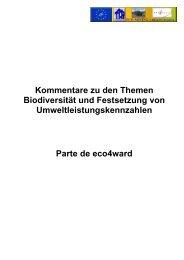 Kommentare zu den Themen Biodiversität und Festsetzung von ...