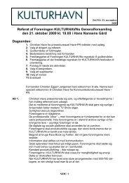 Læs referatet fra generalforsamlingen 2009 - Kulturhavn