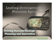 Leading Developments in Precision Agriculture - Ontario Soil and ...