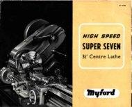SUPER SEYEN - Usinages