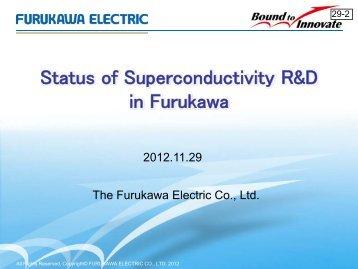 Status of Superconductivity R&D in Furukawa - High-Temperature ...